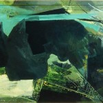 """""""Teichgarten"""" 1993, 240 x 95 cm"""