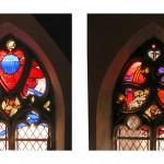 Obergadenfenster, mit historischen Fragmenten